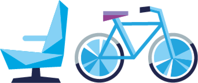 seat and bike reservation graphic